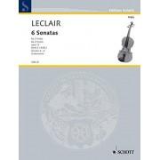 Schott NYC SCHOTT LECLAIR JEAN-MARIE - SIX SONATAS OP. 12 HEFT 2 - 2 VIOLAS Partition classique Cordes Alto
