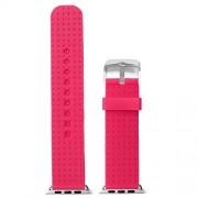 Hot Pink 38 mm Silikon Gummi Watch Band für Apple iWatch Ersatz Interchange wb1103 X 38jb
