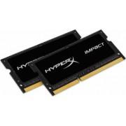 Memorie Laptop HyperX Impact Black 16GB 2x 8GB DDR4 2400MHz CL14 D Rank