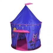 Knorrtoys 55539 Tente de jeux - Couleur bleu nuit avec motif chouette.