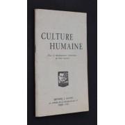 Culture Humaine (Pour Le Développement Harmonieux De L Être Humain)