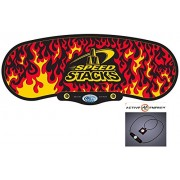 """Sport Stacking Speed Stacks Premium """"Black Flame"""" Gen 3 Mat Only With Active Energy Power Balance Necklace $49 Value Free"""