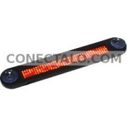 Rótulo electrónico de LEDs DisplayMatic de 40x7 para vehículo