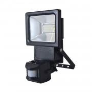 energie A+, LED-buitenlamp met bewegingssensor - aluminium grijs 18 lichtbronnen, Näve