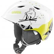 UVEX airwing 2 Kask snowboard Dzieci zielony/biały Kaski narciarskie