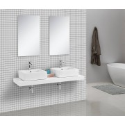 Waschtischkonsole CADENA 150 x 50 cm, Echtholz (wei�)