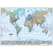 Harta de perete, a lumii, politica, plastifiata 140x100 cm