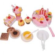 Imported 75Pcs Birthday Cake Set Kids Pretend Toys -Pink