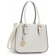 Kabelka LS00176 - White Snakeskin Shoulder Bag