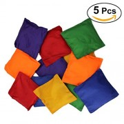 TOYMYTOY 5Pcs Nylon Bean Bags Toy Game Beanbags for Kids Children Playtime Assorted Colors