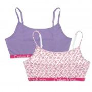 Boxershorts Meisjes Repeat Logo Bralette 2-pack Wit & Paars