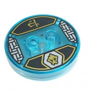 Lego Parts: Dimensions Toy Tag 4 x 4 x 2/3 with 2 Studs for Ninjago Cole #12