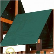 SWING-N-SLIDE - Swing Set Canopy, Green Vinyl, 43 x 90-In.