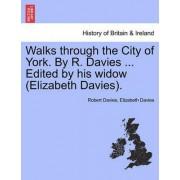 Walks Through the City of York. by R. Davies ... Edited by His Widow (Elizabeth Davies). by Robert Davies