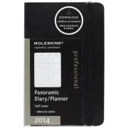 Moleskine 2014 Professional Planner 12 Month Weekly Horizontal Panorama Black Extra Large