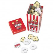 """Pop For Sight Word Game, Red/white, 100 Popcorn Cards, 3""""l X 3""""w X 6.25""""h"""
