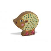 Facile sonaglio giocattolo di legno nel colorato, disegno animale sveglio sound - - Oops LHB 13.008,24 Hedgehog