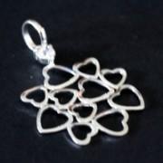 Pingente de Prata 925 Mandala com Pedra de Zirconia