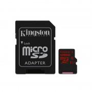 Card Kingston microSDXC 128GB Clasa 10 UHS-I U3 cu adaptor SD