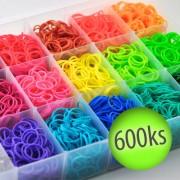 Gumičky na náramky - jednofarebné 600ks