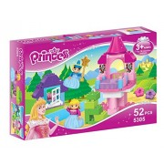 Little Treasures Princess Pink Castle Building Block 52 Pieces Duplo Compatible Toy Set For Friends Build And Play Fun