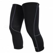 NUCKILY Bicicleta Riding Fleece Knee Sleeve Invierno almohadillas - Negro (XL)