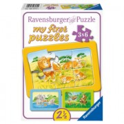 RAVENSBURGER My First Puzzle - Safari dieren 3x 6 stukjes