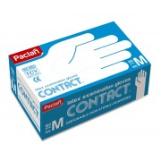 PACLAN Contact | Latex Examination Gloves / M (1 x 100 ks)