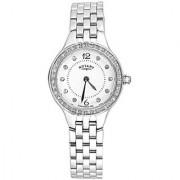 Rotary Round White Analog Watch For Women- LB0286606
