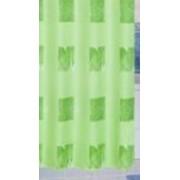 Zuhanyfüggöny zöld mintás textil 180x200cm/017/Cikksz:063013
