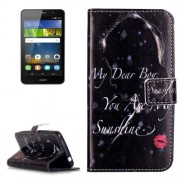 Huawei Y6 Pro Embossment Red Lip Girl Pattern Horizontal Flip Leather Case with Holder & Card Slots & Wallet