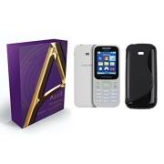 Azzil Soft Silicone Case Back Cover for Samsung Guru Music 2 (Black)