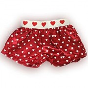 Satin Heart Boxer Shorts Teddy Bear Clothes Fit 14 - 18 Build-a-bear Vermont Teddy Bears and Make Your Own Stuffed Animals