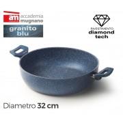 Tegame con due maniglie 32 cm Diamond Tech Accademia Mugnano GRANITO BLU