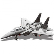 Top Race Interlocking Building F15 Fighter Jet Airplane Model Toy Kit Blocks Set and Compatible with Lego