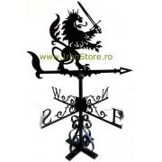 Girueta ornamentala Leu cu sabie cod GRS04, tabla 2mm