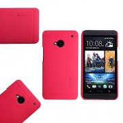 Nillkin Super Frosted Shield Back Cover Case for HTC One M7, Free Nillkin Screen guard (Red)