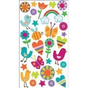 Sticko Sparkler Classic Stickers: Chickadee