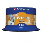 DVD-R 16x Verbatim Printable WIDE ID Tarrina 50 uds