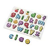 Melissa & Doug See-Inside Alphabet Wooden Peg Puzzle - Multi-Coloured
