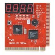 PC Computer Main Board Fault Error Analyzer Tester Diagnostic Card w/ Buzz - Red