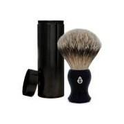 eShave Silvertip Badger Hair Travel Shaving Brush - Black