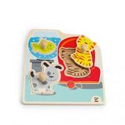 """Hape E1300 - Puzzle con Pomello """"I Miei Animali Domestici"""", Multicolore"""