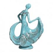 Enfeite Bailarina Borboleta II Azul Turquesa Buzzios