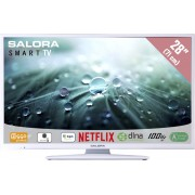 Salora 28LED9112CSW - Led-tv - 28 inch - HD-ready - Smart tv - Wit