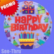 Balon folie transparenta Happy Birthday Cadouri