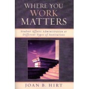 Where You Work Matters by Joan B. Hirt