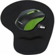 Mouse Wireless Omega OM-419 1000dpi Green + Mouse Pad