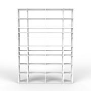 Bücherregal Weiß, MDF, 228 x 310 x 35