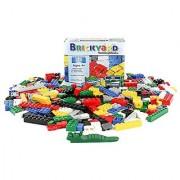 Building Bricks - 275 Pieces Compatible Toys by Brickyard Building Blocks - Bulk Block Set with 39 Roof Pieces Free Bri